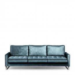 West houston sofa 3 5 seater velvet petrol