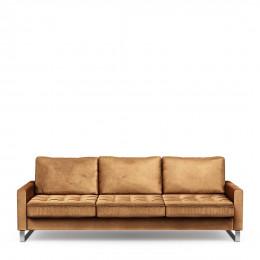 West houston sofa 3 5 seater velvet cognac