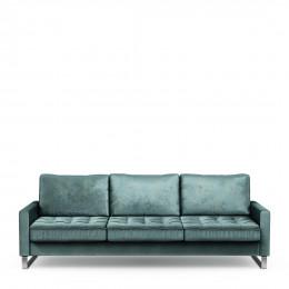 West houston sofa 3 5 seater velvet mineral blue