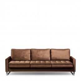 West houston sofa 3 5 seater velvet chocolate