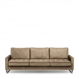 West houston sofa 3 5 seater velvet golden beige
