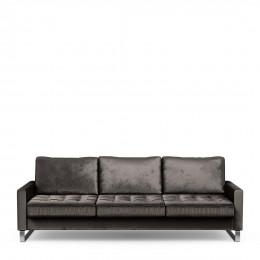 West houston sofa 3 5 seater velvet grimaldi grey