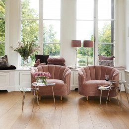 Beverly hills loveseat vel blush