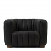 Pulitzer armchair leather charcoal
