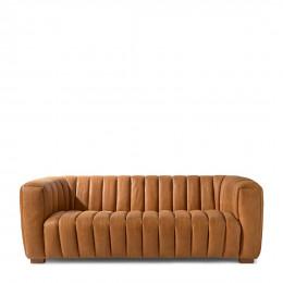 Pulitzer sofa 3 5 seater leather cognac