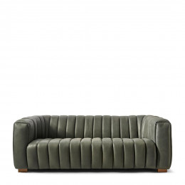 Pulitzer sofa 3 5s leather charcoal