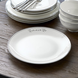 Happy chef dinner plate