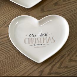 Merry christmas heart plate s