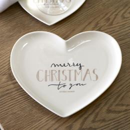 Merry christmas heart plate m