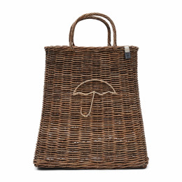 Rustic rattan umbrella bag