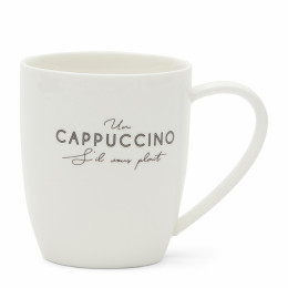 S il vous plait cappuccino mug