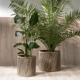 Rm 48 diagonal weave pot set of 2