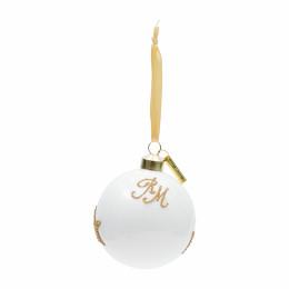 Christmas star ornament white dia 8