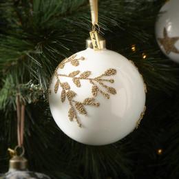 Lovely mistletoe orn gold dia 10