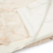 Diamond faux fur throw 170x130