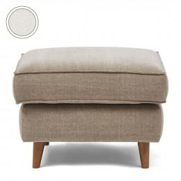 Kendall footstool 70x70 oxford weave alaskan white