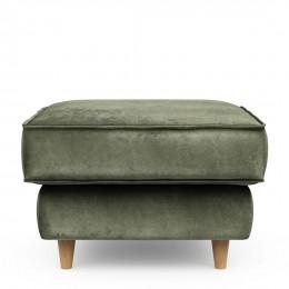 Kendall footstool 70x70 velvet ivy
