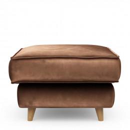 Kendall footstool 70x70 velvet chocolate