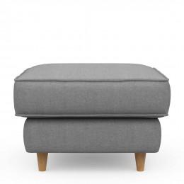 Kendall hocker 70x70 cotton grey