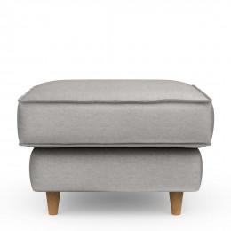 Kendall square velvet footstool platinum 70cm