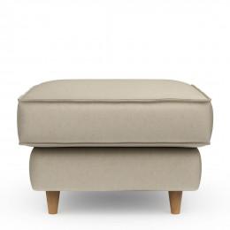 Kendall square velvet footstool pearl 70cm