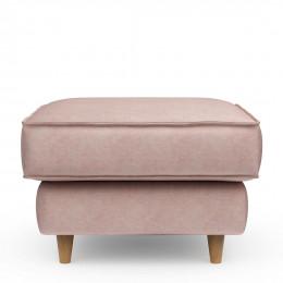 Kendall square velvet footstool blossom 70cm