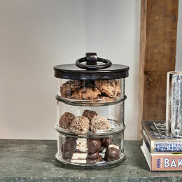 Cordoba triple storage jar black