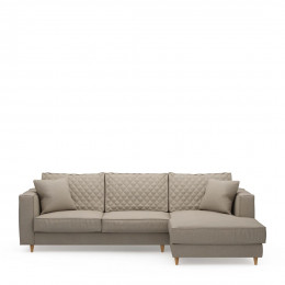 Kendall sofa with chaise longue right oxford weave anvers flax