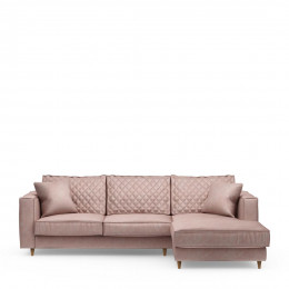 Kendall sofa with chaise longue right velvet blossom