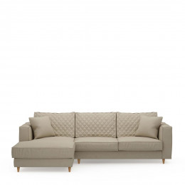 Kendall sofa with chaise longue left oxford weave flanders flax
