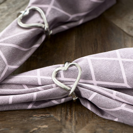 With love napkin ring