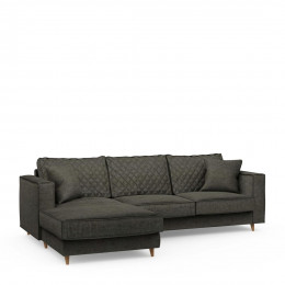 Kendall sofa with chaise longue left velvet shadow