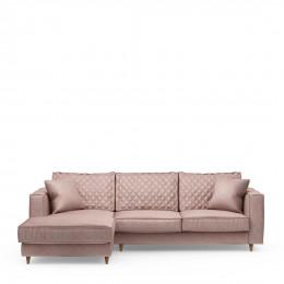 Kendall sofa with chaise longue left velvet blossom