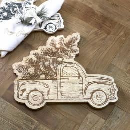 Merry christmas car chopping board