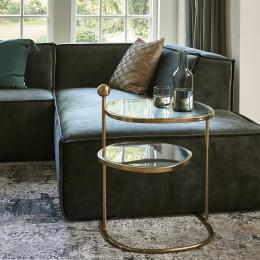 Liberty hexagon side table gold