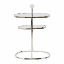 Liberty hexagon side table silver