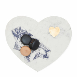 Magic marble heart serving plate