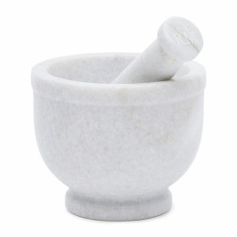 Magic marble mortar and pestle