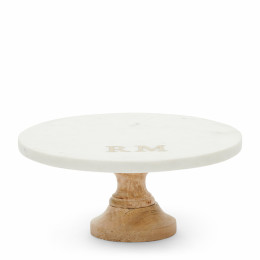 Magic marble cake stand white