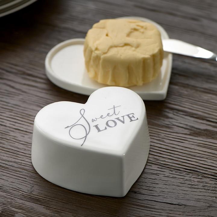 Sweet love butter dish