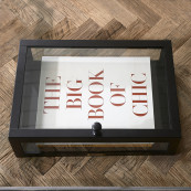 All time favourite storage box black 45x30cm