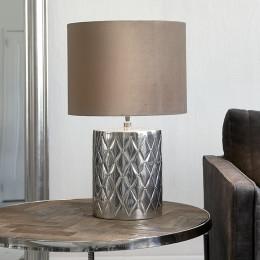 Docklands matelasse lamp base silv
