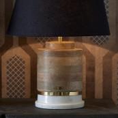 Magic marble lamp base