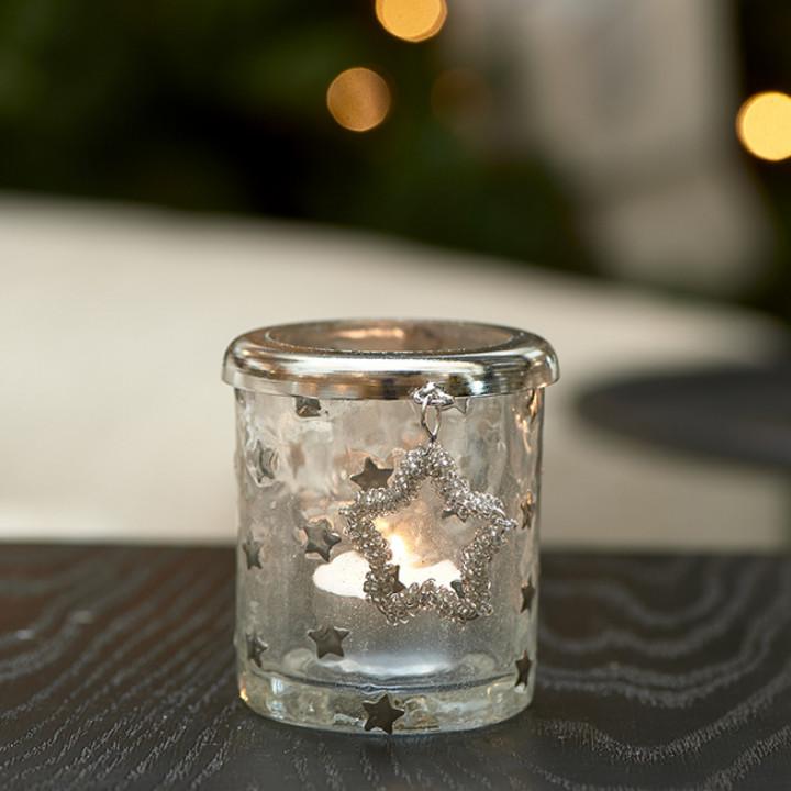 Beaded star votive s