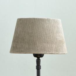 Lovely rib velvet lampsh grey 15x20
