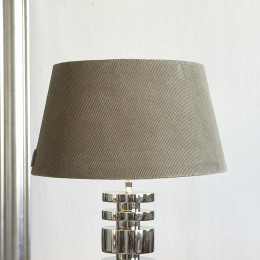 Lovely rib velvet lampsh grey 35x45