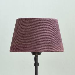 Lovely rib velvet lampsh mau 15x20