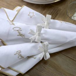 Jacky bow napkin ring 4 pcs