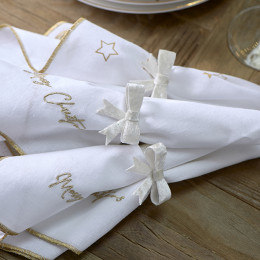 Jacky bow napkin ring 4 pcs