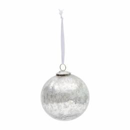 Antique christmas ornament silv d13